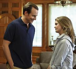 Familiar premise: Will Arnett plays an immature playboy who tries desperately to win (or buy) the heart of his childhood sweetheart, Keri Russell.