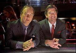 Jim Belushi, left, and Jerry O'Connell, play Las Vegas lawyers with an equally colorful clientele.
