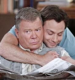 From Twitter to television: William Shatner and Jonathan Sadowski star as father and younger son in $#*! My Dad Says, based on a popular Twitter page written by Justin Halpern.