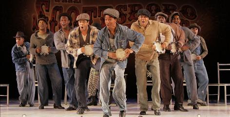 Historic hit: A Minnesota performance of The Scottsboro Boys, a story about racial issues that is moving to Broadway.