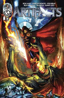 """Cover A to """"Artifacts"""" issue #5 from Top Cow."""