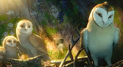 They give a hoot: Eglantine (voice of Adrienne DeFaria), Soren (Jim Sturgess) and Kludd (Ryan Kwanten). 