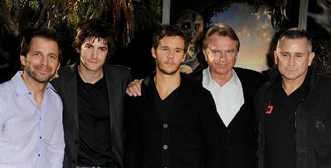 Legend director Zack Snyder, left, gathers his male voice-over talent: Jim Sturgess, Ryan Kwanten, Sam Neill and Anthony LaPaglia.