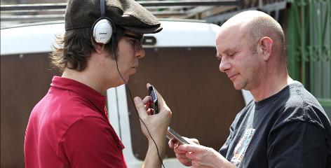 A conversation between friends Ben Folds, left, and Nick Hornby became the Lonely Avenue album.