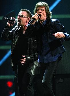 Mick Jagger and Bono's verson of Gimme Shelter is one of the highlights of The 25th Anniversary Rock &amp;amp; Roll Hall of Fame Concerts DVD set.