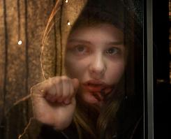 Let Me In: Chloe Moretz stars as the vampire who befriends a young boy. The movie is the comeback project for London-based horror movie house Hammer Film.