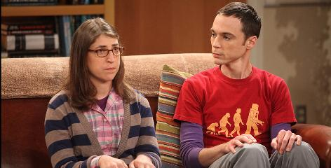 Leader of a talented pack: Jim Parsons as Sheldon, with guest star Mayim Bialik, in The Big Bang Theory.