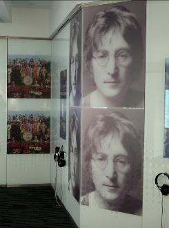 In Los Angeles: The John Lennon, Songwriter exhibit at the Grammy Museum includes original photos and Beatles posters.