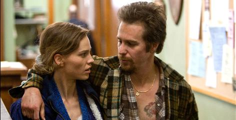 "Brother-sister bond: In Conviction, Hilary Swank plays Betty Anne Waters and Sam Rockwell her brother Kenny, who was wrongly convicted of murder. He served 18 years of a life sentence before being released in 2001. Waters ""sacrificed her life"" to free her brother, Swank says."