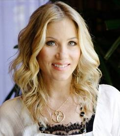 "Christina Applegate models the ""Tree of life"" pendant, available in sterling silver ($198) and 14k gold ($998), at alexwoo.com."