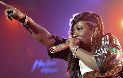 Missy Elliott performs at the 44th Montreux Jazz Festival in Switzerland.