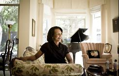 Condoleezza Rice, shown at her home in Palo Alto, Calif., has written a memoir, Extraordinary, Ordinary People, which focuses not on her political years but on her childhood.