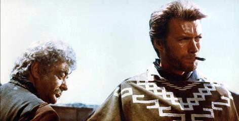 "They probably didn't save the cigarillo, though: Clint Eastwood sports that famous poncho from the 1964 ""spaghetti Western"" A Fistful of Dollars."