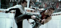 Jet Li, here roughing up a fighter in Unleashed, is set to star in a 3-D kung fu film, Flying Swords of Dragon Gate.