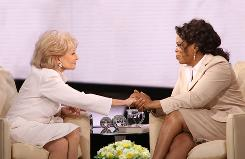 Oprah Winfrey interviewed Barbara Walters in 2008 for a segment that aired on The Oprah Winfrey Show.
