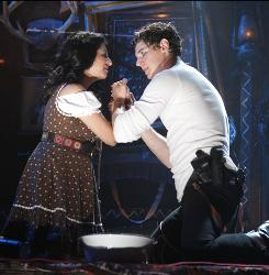 In Bloody Bloody Andrew Jackson, Benjamin Walker is the musical's titular president, and Maria Elena Ramierez is his wife, Rachel.