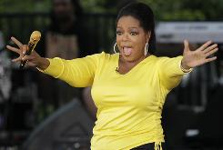 """Oprah Winfrey told audience members at Comedy Central's The Daily Show on Thursday that she's sending them to Washington so they can attend the  """"Rally to Restore Sanity."""""""