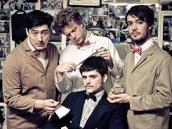 Mumford &Sons: Marcus Mumford, left, Ted Dwane, Winston Marshall (sitting) and Ben Lovett.