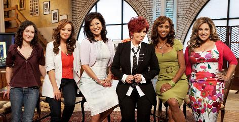 Team Talk: Sara Gilbert, left, Leah Remini, Julie Chen, Sharon Osbourne, Holly Robinson Peete and Marissa Jaret Winokur