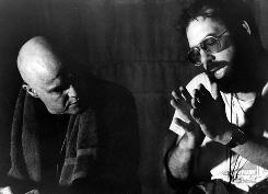 Beautiful friends: Marlon Brando, left, and director Francis Ford Coppola on the set of Apocalypse Now in 1979.