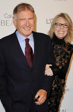 "Harrison Ford, who attended with his Morning Glory co-star, Diane Keaton, that the Women in Hollywood celebration was created when there were fewer opportunities.   Now, he says, ""women run Hollywood. Absolutely run Hollywood. And I'm glad."""
