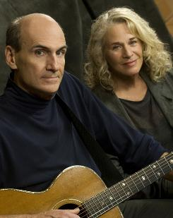 The good old days: James Taylor and Carole King's summer tour did well.