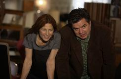 Catherine Keener and Oliver Platt play liberal New Yorkers who want to expand their apartment in Please Give.