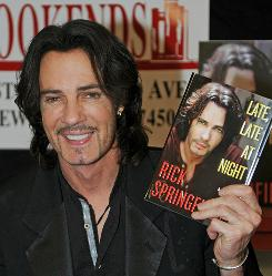 Rick Springfield: He sang about Jessie's Girl in 1982, then battled depression for years. Now he's back with a new book, Late, Late at Night.