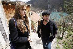 Angelina Jolie and Brad Pitt  visited the village of Medjedja in Bosnia in April to meet refugees.