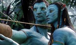 Sam Worthington and Zoe Saldana star in the film Avatar.
