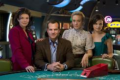 Big Love stars Jeanne Tripplehorn, from left, Bill Paxton, Chloe Sevigny and Ginnifer Goodwin.