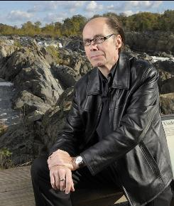 On the edge: Jeffery Deaver, photographed at Great Falls National Park in Virginia, has a novel, Edge, out Tuesday. His untitled James Bond novel is due to hit shelves in May.