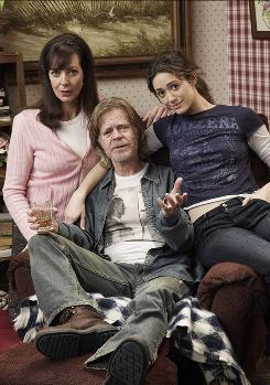 Allison Janney, left, William H. Macy and Emmy Rossum star in the Showtime series Shameless.