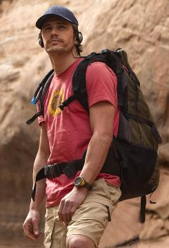 Canyon-spotting: James Franco plays rock climber Aron Ralston in Danny Boyle's latest film.