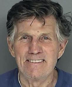 Gary Collins allegedly hit a car at a stoplight Tuesday.