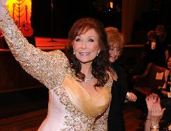 Loretta Lynn made an appearance at the Grammy Salute to Country Music in Nashville on Oct. 12.