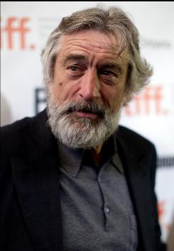 A bearded Robert De Niro arrives for the premiere of his new film Stone at the Toronto International Film Festival in September.