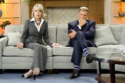 Diane Keaton and Harrison Ford play mismatched anchors on a morning show beset with ratings woes.