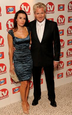 TV chef Gordon Ramsay, seen here with wife Tana, is embroiled in a feud with his father-in-law, whom he fired as the CEO of his company.
