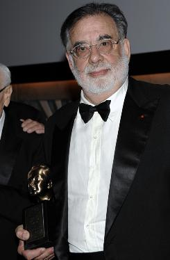 Director Francis Ford Coppola received the Irving G. Thalberg Memorial Award at the Academy of Motion Picture Arts and Sciences Governors Awards in Los Angeles on Saturday.