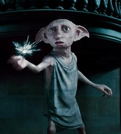 Dobby the house elf was introduced in Chamber of Secrets, when he worked for the Malfoys, but also plays a big part in Deathly Hallows.