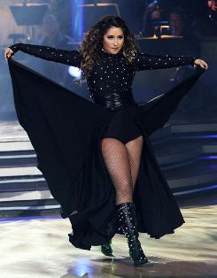 Bristol Palin channels her inner goth during last night's Dancing With the Stars.