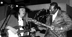 Stevie Ray Vaughan and Albert King play on Dec. 6, 1983 at CHCH-TV studios in Hamilton, Ontario.