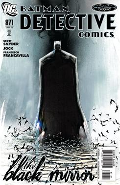 Cover of Detective Comics 871, written by Scott Snyder and drawn by Jock.