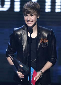 Justin Bieber won four trophies at Sunday's American Music Awards.