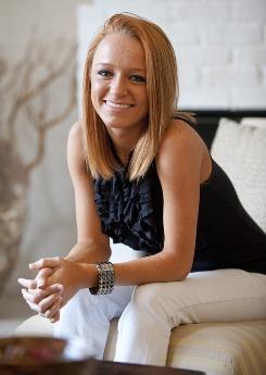 "A different kind of life: Maci Bookout, who has a son, Bentley, says that now, ""everyone ... knows something about me and is watching me and judging me."""