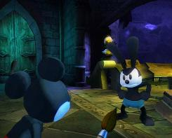 Mickey Mouse meets up with Oswald the Lucky Rabbit, the character Walt Disney created first.