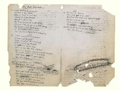 The original, autographed lyrics for Bob Dylan's The Times They are A-Changin hits the auction block on Dec. 10, 2010.