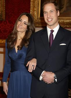 Kate Middleton's engagement to England's Prince William pushed her to the top of USA TODAY's Celebrity Heat Index for the month of November.