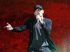 Eminem received the most Grammy nominations, including nods for album of the year, record of the year and rap song of the year.